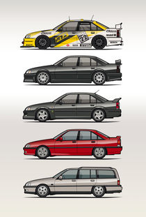 Stack of Opel Omegas / Vauxhall Carlton A by monkeycrisisonmars