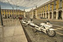 Lisbon Police Bikes  by Rob Hawkins