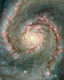 M51, also known as NGC 5194 by Stocktrek Images