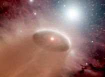 An O-star and its disk of planet-forming material by Stocktrek Images