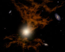 A supermassive black hole in the galaxy's core. von Stocktrek Images