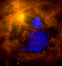 The Orion nebula in infrared. von Stocktrek Images