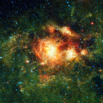 NGC 3603, a young star cluster in the Milky Way. by Stocktrek Images