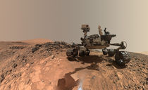 Mars selfie - Curiosity at Buckskin by withsilverwings