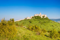 The ruined Spiš Castle in Slovakia on a sunny day by Sara Winter