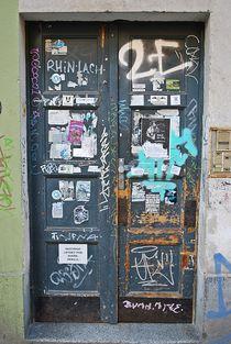 alte Tür in Zizkov, Prag... 2 by loewenherz-artwork