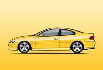 Illu-holden-monaro-yellow-poster