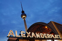 Alexanderplatz by night by Frank Mitchell
