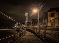 Swansea promenade at night von Leighton Collins