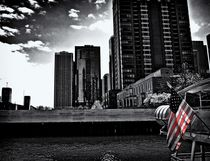 Flag on the Chicago River by Ken Dvorak