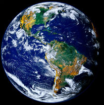 Full Earth Showing The Americas.
