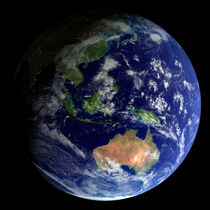Full Earth from space showing Australia by Stocktrek Images