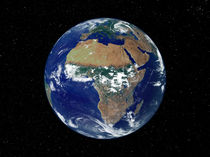 Full Earth Showing Africa and Europe. von Stocktrek Images