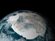Antarctica and its surrounding sea ice. by Stocktrek Images