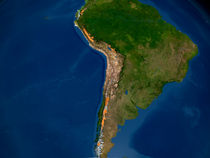 Glaciers in regions of South America. by Stocktrek Images