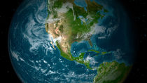 View of Central and North America. by Stocktrek Images