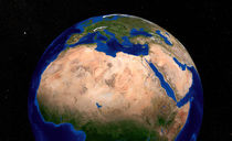 Earth showing North Africa. von Stocktrek Images