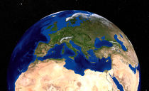 Earth  showing the Mediterranean Sea. von Stocktrek Images