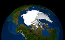 Arctic sea ice in 2005. by Stocktrek Images