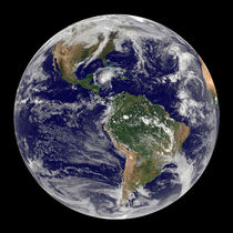 Full Earth showing Hurricane Paloma. by Stocktrek Images