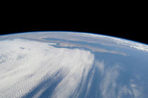 Heavy cloud cover over the Pacific Ocean. von Stocktrek Images