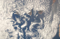 Cloud vortices in the area of the Canary Islands. von Stocktrek Images