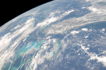 High oblique Earth view of the Florida peninsula. von Stocktrek Images