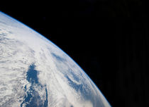 Earth's horizon and the blackness of space. von Stocktrek Images
