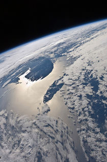 View of the Gaspe Peninsula and Anticosti Island von Stocktrek Images