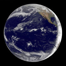 Earth centered over the Pacific Ocean. von Stocktrek Images