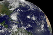 Hurricane Irene moving through the Bahamas. von Stocktrek Images