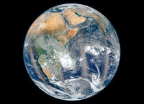 Full Earth showing the eastern hemisphere. by Stocktrek Images