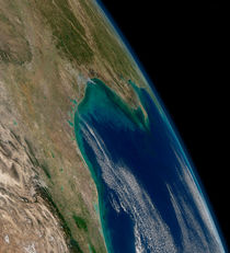 View of the northern Gulf of Mexico. by Stocktrek Images