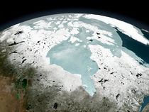 Hudson Bay sea ice on April 29, 2006. von Stocktrek Images
