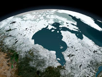 Hudson Bay sea ice on November 14, 2005. by Stocktrek Images