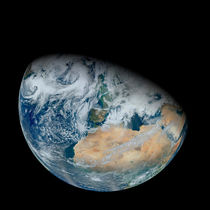 Earth showing North Africa and Europe. by Stocktrek Images