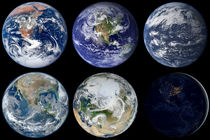Image comparison of iconic views of planet Earth. von Stocktrek Images