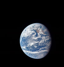 Planet Earth taken by the Apollo 11 crew. by Stocktrek Images