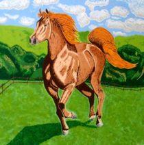 Pferd auf der Weide von Hans Elsner