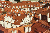 View over rooftops of the old town area by Frank Mitchell