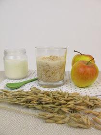 Overnight Oats mit Joghurt und Apfel von Heike Rau