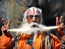 Sadhu in Nepal I by Matt Hahnewald