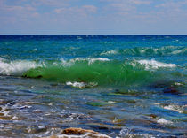 Azure waves of the Black sea von Yuri Hope