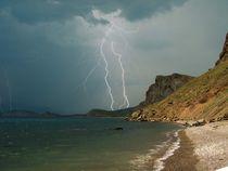 Storm over Karadag  von Yuri Hope