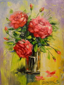 Red roses by Olha Darchuk