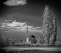 Mosque at road by Glory Denisov