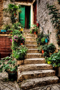'Courtyard Steps' von Colin Metcalf