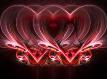 hearts on a dark background by Andrey Lipinskiy