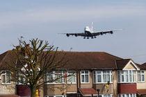 British Airways Airbus A380 And House by David Pyatt