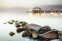 Teehaus auf der Seebrücke Timmendorfer Strand von Moritz Wicklein